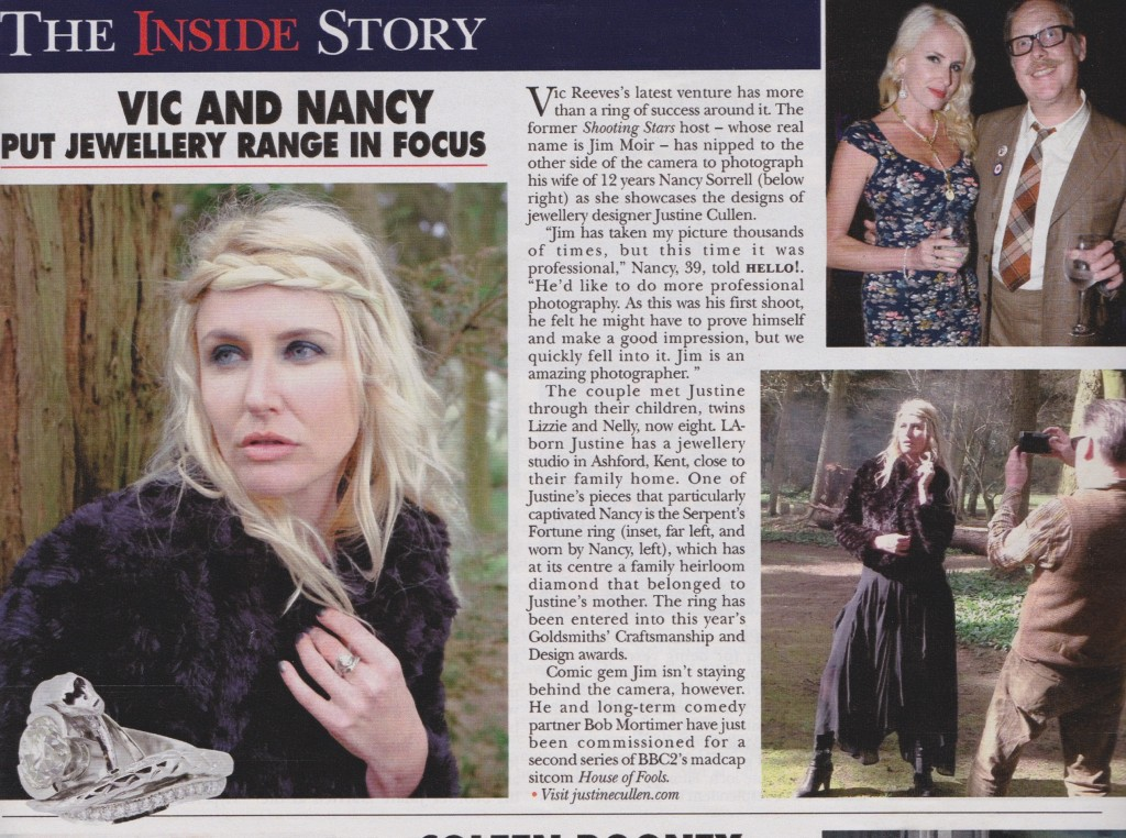 Nancy Sorrell Hello Magazine - Serpents Fortune